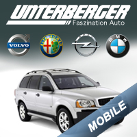 Mobile version of Unterberger auto website